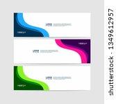 vector abstract design banner...   Shutterstock .eps vector #1349612957