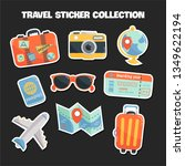 set of travel concept stickers... | Shutterstock .eps vector #1349622194