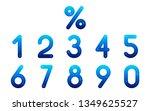 abstract vector numerals set   Shutterstock .eps vector #1349625527