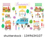 summer fair activities vector ... | Shutterstock .eps vector #1349634107