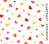 seamless pattern with colorful... | Shutterstock .eps vector #1349638574