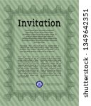 green formal invitation....   Shutterstock .eps vector #1349642351