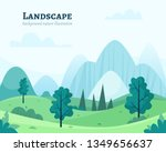 nature park or forest outdoor... | Shutterstock .eps vector #1349656637
