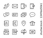contact us vector line icons... | Shutterstock .eps vector #1349665061