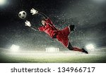 Goalkeeper Catches The Ball ....