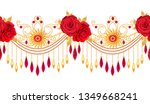 3d rendering. golden stylized... | Shutterstock . vector #1349668241