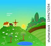 organic farm production | Shutterstock .eps vector #1349673254
