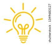 idea symbol. yellow bulb icon... | Shutterstock . vector #1349683127