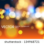 abstract circular bokeh... | Shutterstock .eps vector #134968721