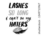 lashes so long  i can't see my... | Shutterstock .eps vector #1349713967