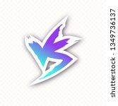 versus icon modern gradient... | Shutterstock .eps vector #1349736137