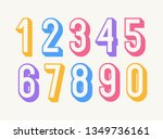 Set Of Numbers Colorful 3d Bol...