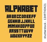 geometric alphabet letters  set ...   Shutterstock .eps vector #1349743421