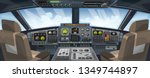 airplane cockpit view with... | Shutterstock .eps vector #1349744897