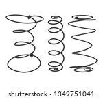 mattress spring set on white...   Shutterstock .eps vector #1349751041