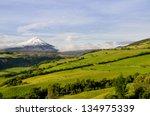 cotopaxi volcano landscape ...   Shutterstock . vector #134975339