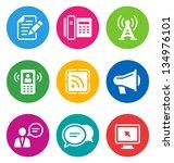 color circular communication... | Shutterstock . vector #134976101