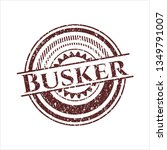 red busker rubber grunge seal | Shutterstock .eps vector #1349791007