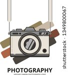 vintage camera photography logo | Shutterstock .eps vector #1349800067