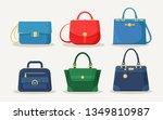feminine handbag for shopping ...   Shutterstock .eps vector #1349810987