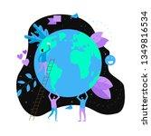 day of earth vector flat... | Shutterstock .eps vector #1349816534