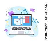 online calendar with marks ... | Shutterstock .eps vector #1349816537