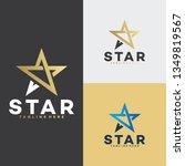 golden star logo icon | Shutterstock .eps vector #1349819567