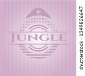 jungle vintage pink emblem | Shutterstock .eps vector #1349826647