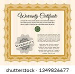 orange vintage warranty... | Shutterstock .eps vector #1349826677