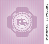 ambulance icon inside pink... | Shutterstock .eps vector #1349826857