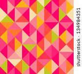 triangles geometrical seamless... | Shutterstock .eps vector #134984351