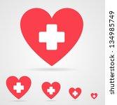 vector health care icon  white...   Shutterstock .eps vector #134985749