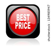 best price black and red square ... | Shutterstock . vector #134985947