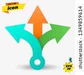 three way direction arrows.... | Shutterstock .eps vector #1349859614