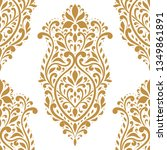 golden floral seamless pattern. ... | Shutterstock .eps vector #1349861891