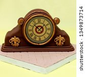decorated 3d cake  art deco... | Shutterstock . vector #1349873714