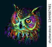 Long Eared Owl. Abstract ...
