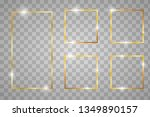 golden shiny glowing vintage... | Shutterstock .eps vector #1349890157
