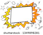 vector illustrated retro comic... | Shutterstock .eps vector #1349898281