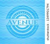 avenue water wave concept badge.   Shutterstock .eps vector #1349901794