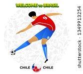 vector illustration football... | Shutterstock .eps vector #1349913254