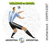 vector illustration football... | Shutterstock .eps vector #1349913287