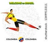 vector illustration football... | Shutterstock .eps vector #1349913311