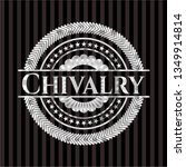 chivalry silvery badge or emblem | Shutterstock .eps vector #1349914814