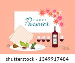 passover jewish spring holiday  ... | Shutterstock .eps vector #1349917484