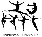 silhouettes of man dancing a... | Shutterstock .eps vector #1349922314