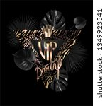 vip party banner with animal... | Shutterstock .eps vector #1349923541