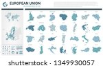 vector maps set.  high detailed ... | Shutterstock .eps vector #1349930057