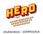 comics style font design ... | Shutterstock .eps vector #1349931914
