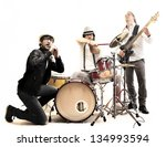 group of young musicians who... | Shutterstock . vector #134993594